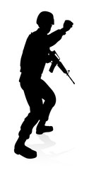 Soldier High Quality Silhouette