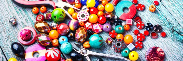 Making jewelry of beads