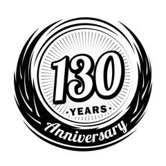 130 years anniversary. Anniversary logo design. 130 years logo