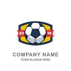 Football Badge Tournament Logo Vector Illustration