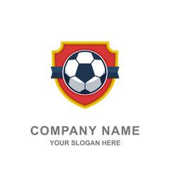Football Emblem Club Championship Tournament Logo Vector Illustration