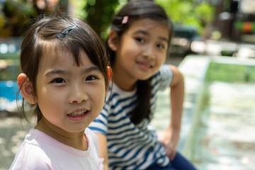 Asian kids little girl smiling happy