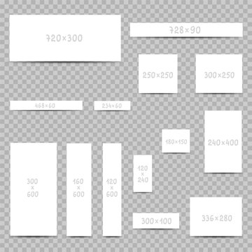 internet web banner size templates