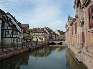 View of the Colmar, Alsace, France
