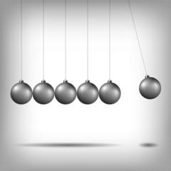 Newton's cradle, pendulum
