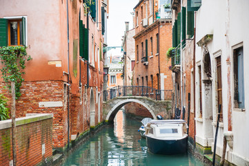 Scenic canal in Venice, Italy.