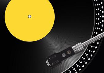 disque vinyle - platine vinyle - musique - fond -vintage - tourne disque - rétro - fête de la musique