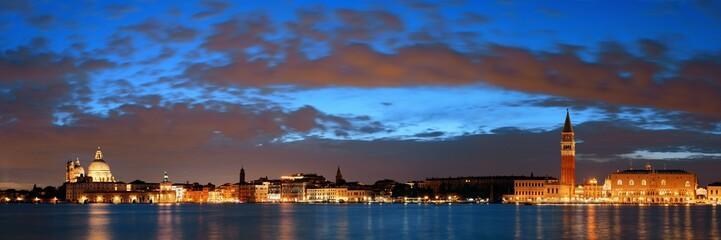 Wall Mural - Venice skyline night panorama view