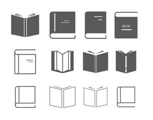Modern book icon set