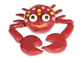 Funny plasticine Crab