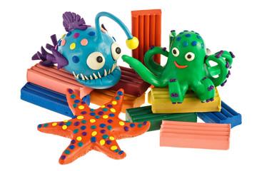 Funny plasticine animals