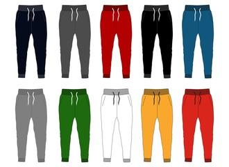 Fototapeta design vector template pants collection for men  obraz