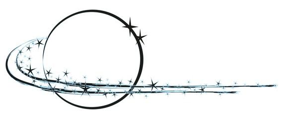 Логотип планеты со звездами
