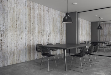 Modern conference room with copyspace