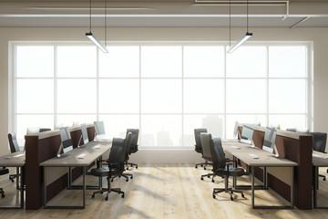 Modern coworking office interior