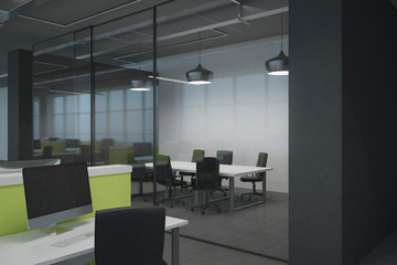Stylish coworking office interior