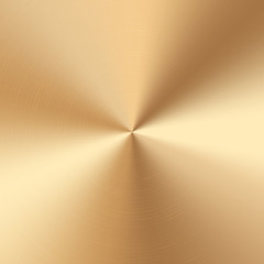 Colorful golden cone gradient. Vector polished plate with metal texture