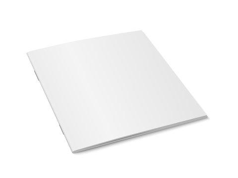 Vector white mock up of magazine isolated.