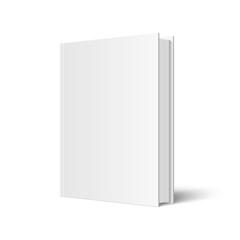 Vector mock up of standing book
