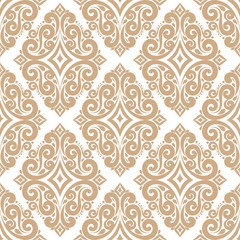 Golden ornamental seamless pattern. Vintage, paisley elements. Ornament. Traditional, Ethnic, Turkish, Indian motifs. Great for fabric and textile, wallpaper, packaging or any desired idea