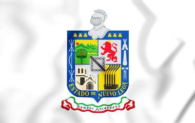 3D Flag of Nuevo Leon, Mexico.
