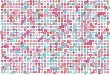Abstract background with shape of mixed pattern. Effect, creative, tile & messy.