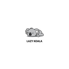 Lazy koala icon, logo design, vector illustration