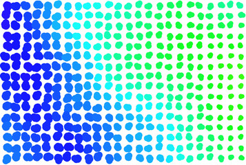 Abstract colored springs shape pattern. Template, concept, illustration & mosaic.