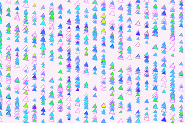 Abstract conceptual triangle pattern. Decoration, art, illustration & drawing.