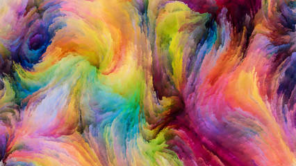 Petals of Colorful Paint