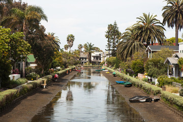 Venice Beach Canals, California, USA