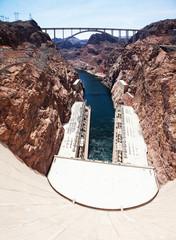 Hoover Dam in summer, Nevada, USA