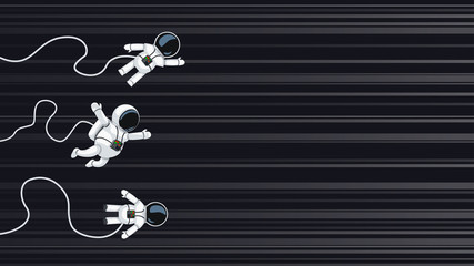 astronauts racing on light speed