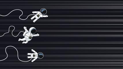 astronauts racing on light speed