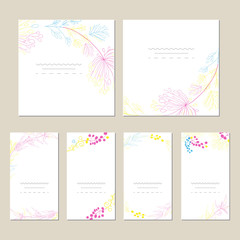 Set of artistic universal cards.