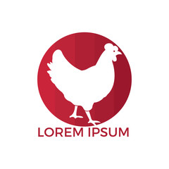Hen logo design. Logo, sign, icon for groceries, meat stores, butcher shop, farmer market.