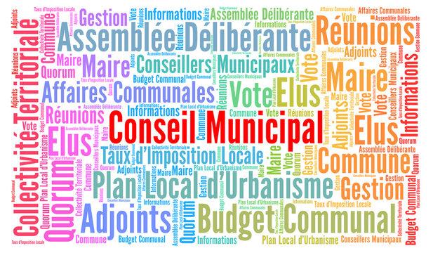 Conseil municipal nuage de mots