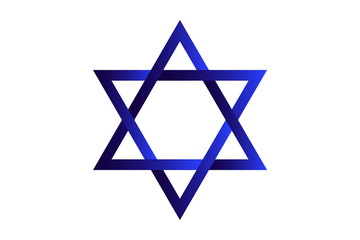 Star of Devid.  Jewish symbol. Vector Illustration
