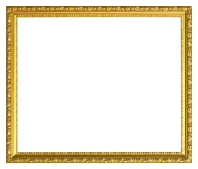 Gold Old picture frame