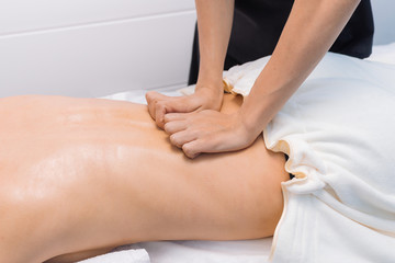 Back massage for spine and relaxation
