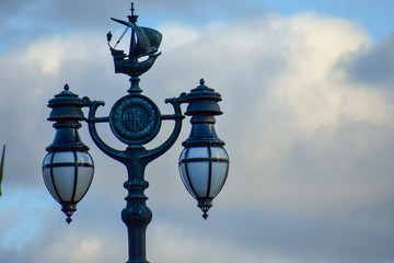 Buckingham Palace streetlamp detail