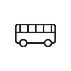 toy bus outline vector icon. Modern simple isolated sign. Pixel perfect vector illustration for logo, website, mobile app and other designs