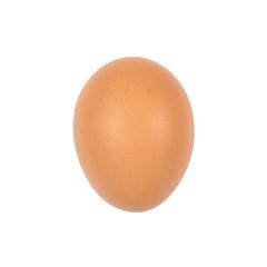 Close up of egg isolated on white background