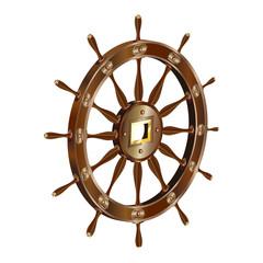 3d_ship_steering_wheel