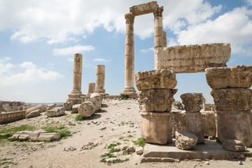 The Temple of Hercules in the Citadel of Amman, Jordan.