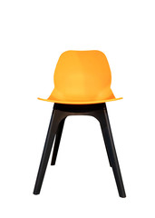 orange chair isolated on white background of file with Clipping Path .