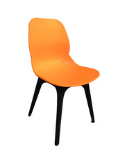 orange chairisolated on white background of file with Clipping Path .