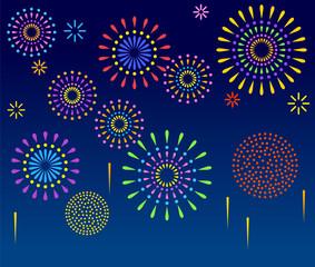 夜空に彩る花火