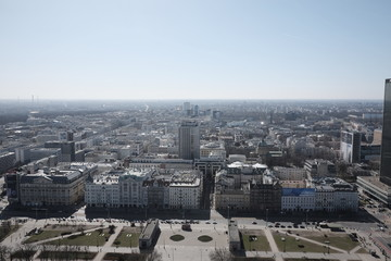 warsaw view from the palace of culture