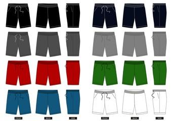 design vector template shorts collection for men